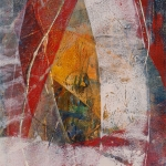 """MAPPING A PLACE 20 (2015) by Lisa Pressman / 10""""x7"""" / Oil on Arches Oil Paper"""