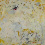 White Place 30 x 30 encaustic