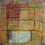 "PASSAGES 25 (vellum 3 side 2) (2015) by Lisa Pressman / 12""x12"" / Oil, photography on tissue and vellum"